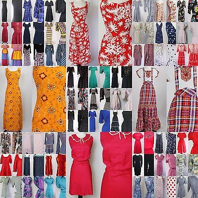 50 x 70S 80S 90s VINTAGE BOHO TEA SUN SECRETARY DRESSES WHOLESALE JOB LOT