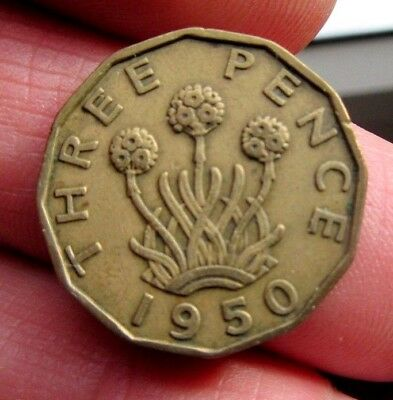 1950 Brass 3p King George Vi th Blossoming Thrift Plant Three Blooms