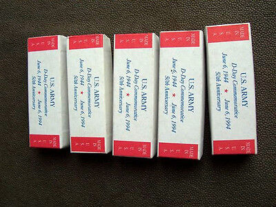 """Lot of 5 Camillus U.S. Army D-Day Commemorative Empty Pocket Knife Boxes  4 1/8"""""""