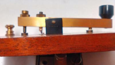 BRASS on Wood MORSE KEY.