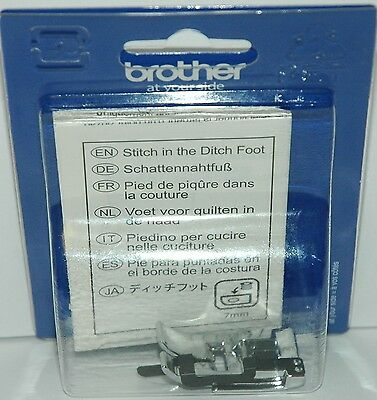 Brother Sewing Machine Genuine Stitch in the Ditch Foot F065 XF2339001