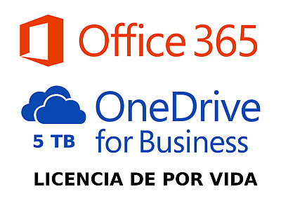 Office 365 para 5PC o MAC + 5 Android + 5 Tablet + OneDrive 5TB | LIFETIME