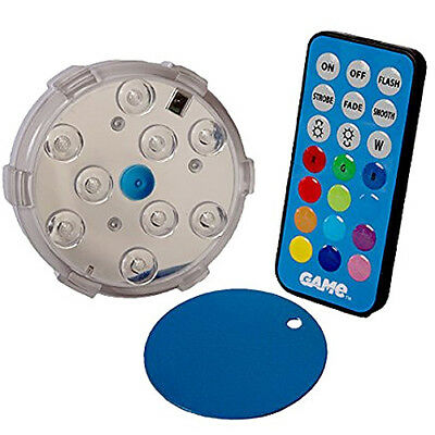G.A.M.E. Multi-Colour Magnetic Pool Wall LED Light w/Remote for Above Ground Poo