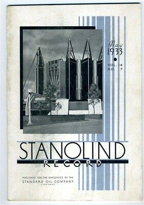 STANOLIND Record May 1933 Chicago World's Fair Century of Progress Issue