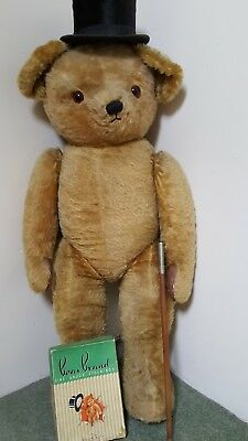 Chad Valley huge very rare bear  48 inches tall 1950 in outstanding condition