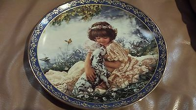 "Beautiful ""puppy Love"" Collector Plate - Sandra Kuck - ""friends For Keeps"""