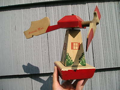 Aged Antique Vintage Whirly Gig Holland Michigan Windmill Original Paint