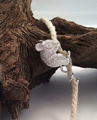 Solid Silver handmade Hallmarked Climbing Blind Mouse BNIB