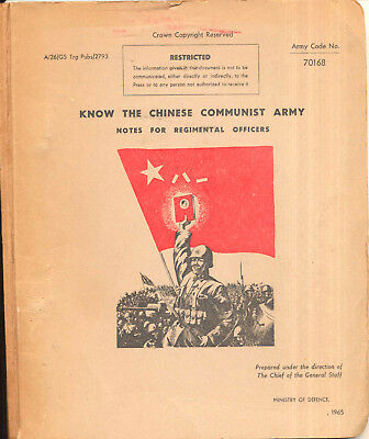 Know the Chinese Communist Army, British Army manual on China tactics 1965