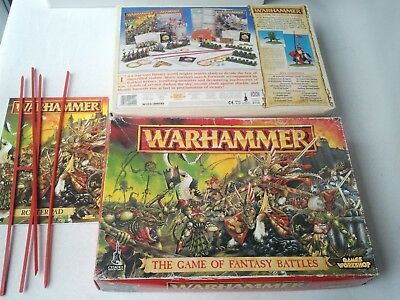 Empty Box for Warhammer The Game of Fantasy Battles 5th edition 1996 +Roster Pad