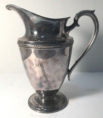 Silverplate Water Pitcher in Castleton (Plated,Hollowware) by International Silv
