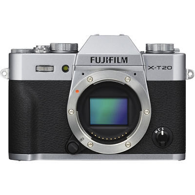 Fujifilm X-T20 Mirrorless Digital Camera Body Silver US