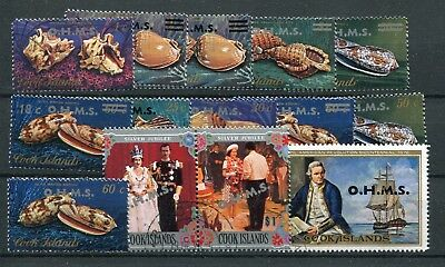 Cook Islands 1978 Shells official OHMS short set to $2 SG.O16/29 used