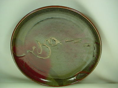 WALTER DEXTER ART POTTERY CHARGER CANADIAN POTTERY 35 cm