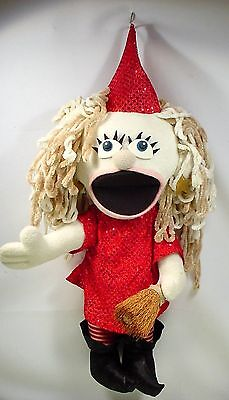 Professional Puppet Little Witch W-Broom Sunny Puppets Ventriloquist Puppet