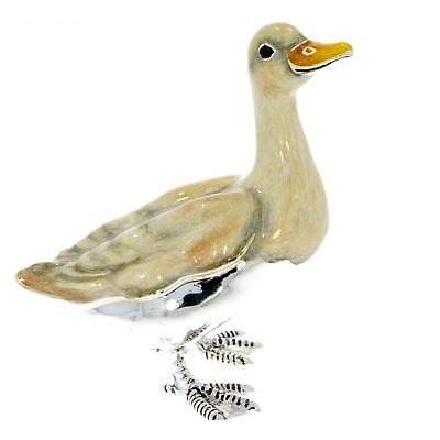 Sterling Silver & Enamel Goose by Saturno