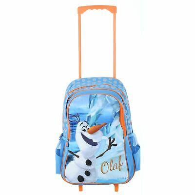 Disney Frozen Olaf Trolley Bag Childs Travel Cabin Luggage Handle Wheels Kids