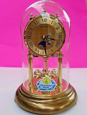 Vintage Schmeckenbecher German Anniversary Clock Westminster Quartz & Moonphase