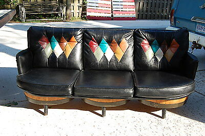 Mid Century Brothers Furniture Whiskey Barrel Sofa