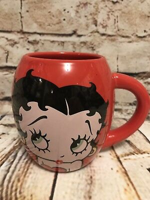 Vandor Betty Boop 18 ounce Barrel Mug, Red.  Ceramic.  2010