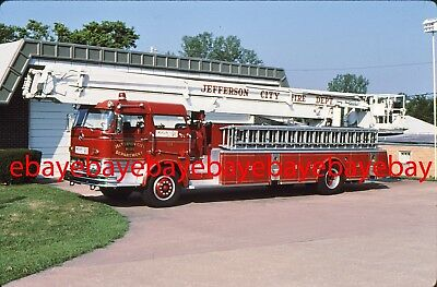 Fire Apparatus Slide, Truck 104, Jefferson City / MO, 1966 Mack C / Snorkel