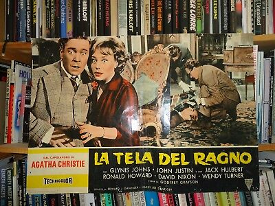 AGATHA CHRISTIE/THE SPIDER'S WEB/italy poster