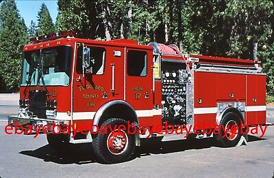 Fire Apparatus Slide, Engine 17, El Dorado Co FD / CA, 2004 HME 4x4