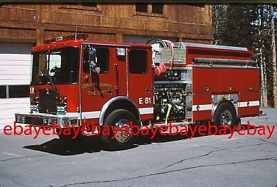Fire Apparatus Slide, Engine 81, Donner Summit / CA, 1998 HME 4x4