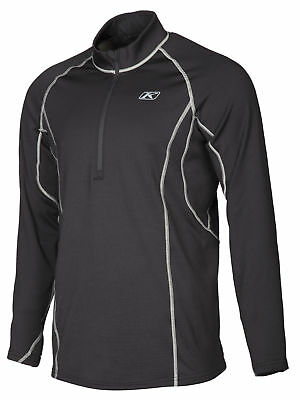 Klim Mens Black Aggressor 3.0 Warming Snowmobile Base Layer 1/4 Zip Jacket Snow