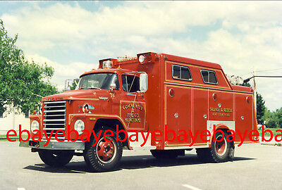 Fire Apparatus Photo, Rescue 2, Millington / MD, 1971 Dodge / Swab