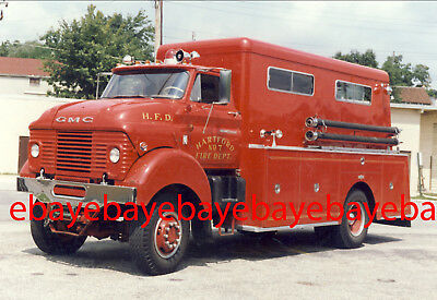 Fire Apparatus Photo, Engine 7, Hartford / WI, 1962 GMC 4x4 / Pirsch