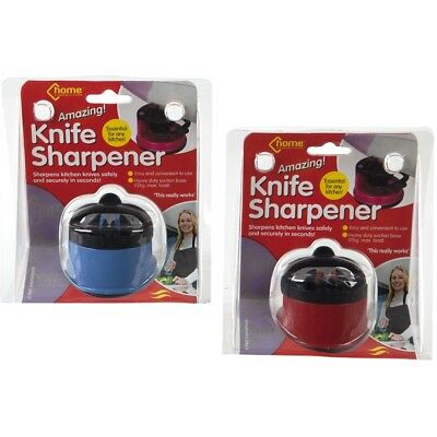 Amazing Knife Sharpener With Suction Cup Fitting Safe Secure Chef Professional