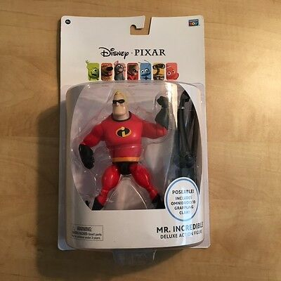 "Disney Pixar Mr. Incredible Deluxe Action Figure 6"" w/ Omnidroid Grappling Claw"