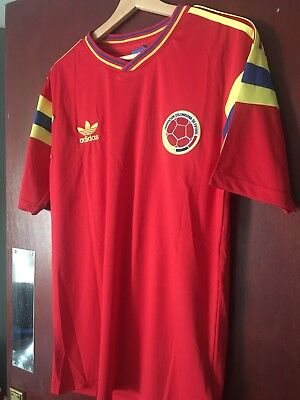 Columbia 1990 Retro World Cup Shirt Valderrama Large
