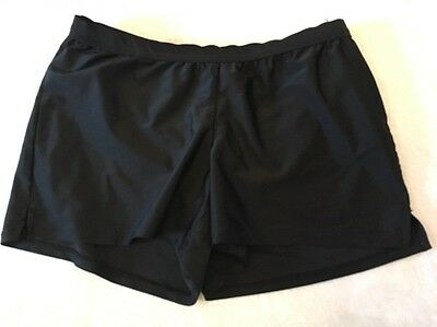 Liz Lange Maternity small Swimsuit Shorts Bottom Black Solid Lined Womens Swim