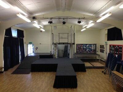 Large Set Portable Modular Stage System, School Indoor/Outdoor Staging + Xtra's
