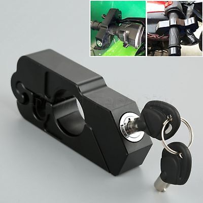 CNC Handlebar Grip Brake Lever Lock Key Anit Theft Security Caps-Lock Universal