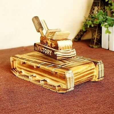 Chinese Wooden Hand-made tank Model Music Box 88810