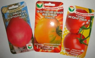 50 seeds 3 pack  of Tomato of Russisn from Siberia