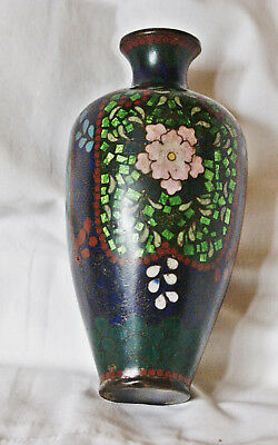 Mid Century 5 1/4 inch Japanese Ginbari Cloisonné Vase One Patch of Loss