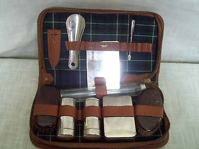 Vintage Mens Travel Grooming Kit in Leather Case Made in West Germany