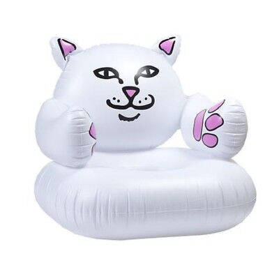 RipNDip LORD NERMAL INFLATABLE CHAIR White Cat Pool Float Home Multi Use Chair