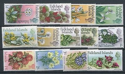 Falkland Islands 1968 Flowers short set to 5/- SG232/44 MNH