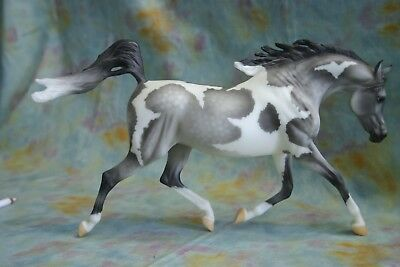 Breyer Arabian Mare Weather Girl Partially Cloudy Dapple Gray Pinto Paint Horse