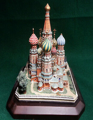 Saint Basil's Cathedral, Moscow Russia, Danbury Mint WITH BASE