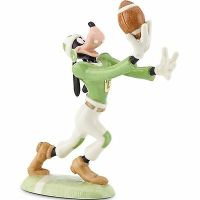 Lenox Disney Goofy Football Figurine Receiver Green White Jersey Touchdown NEW