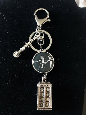 Doctor Who David Tennant Matt Smith TARDIS Reversible Keychain