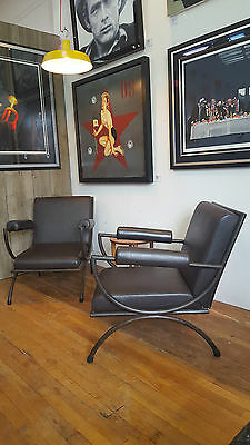 A Pair of Stunning 50's French Lounge Chairs
