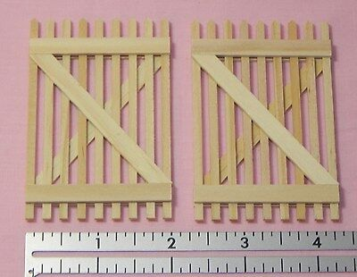 Dollhouse Miniature Fence Gate Wood Picket Houseworks 7504 Minis 1:12 Scale