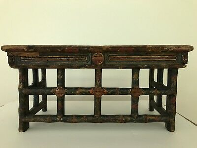 RARE ANTIQUE TIBETAN Folding Altar Table